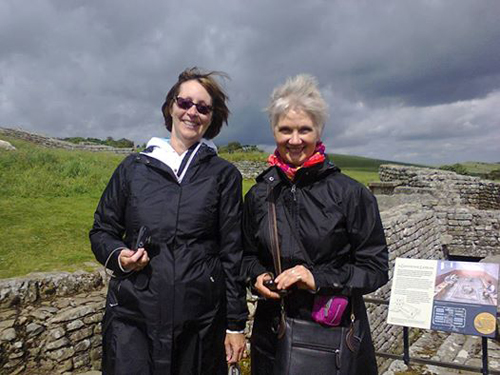 Angel and Dana from Philadelphia at Housesteads