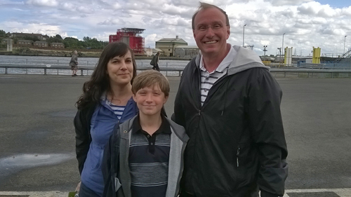 Dana, Sean and Tom post tour at Port of Tyne