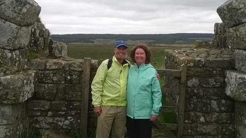 David and Maureen at Milecastle 37