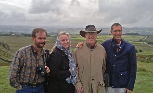 Four from Texas. Fred, Nancy, Karl and Guy undaunted by a cloudy day. They were actually 7 but two avoided the camera and one went to the pub.