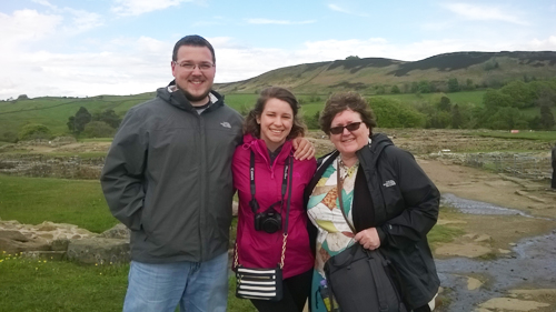 Steve, Danielle and Tammy at Vindolanda