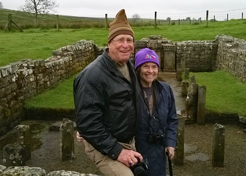 Tom and Katie at the Temple of Mithras
