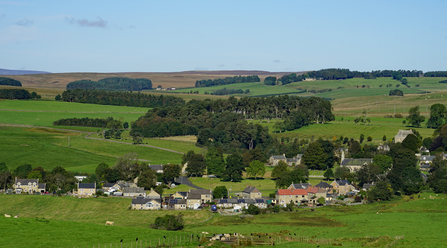 Elsdon Village in England