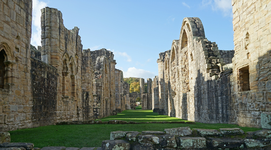 Finchale Abbey was a 13th-century Benedictine priory