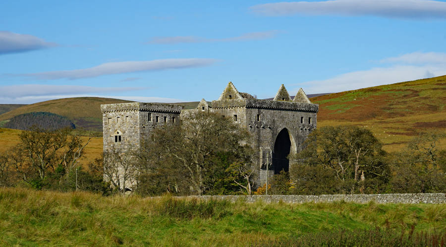 Hermitage Castle in Scotland