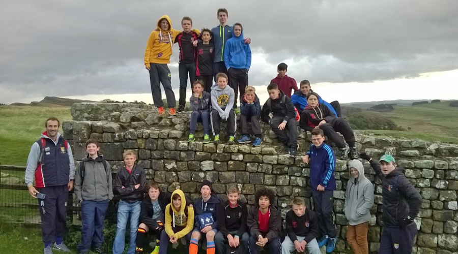 Year 9 pupils at Housesteads Roman Fort